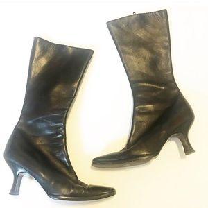 PRADA black leather boots size 37.5